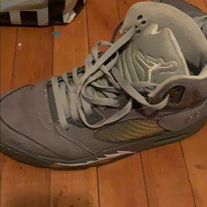 Jordan wolf grey 5's
